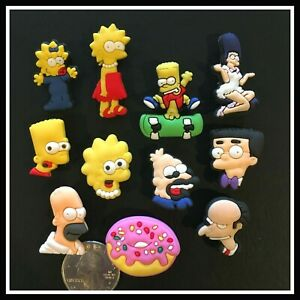 11-Shoe-Charms-for-Crocs-SIMPSONS-Bart-Lisa-Homer-Maggie-Grandpa-Smithers-Marge