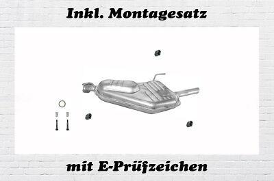 MONTAGESATZ Auspuff Endschalldämpfer Endtopf Nachschalldämpfer Opel Vectra B