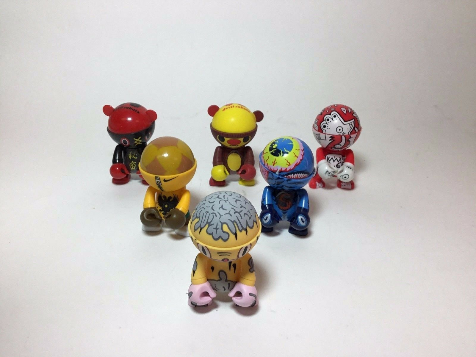 Trexi Toy Figures Set of 6 by Artists, Baseman, Burgerman Others