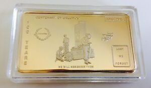 REMEMBRANCE DAY ~ Gold Plated collectable-Limited edition C.O.A.incl