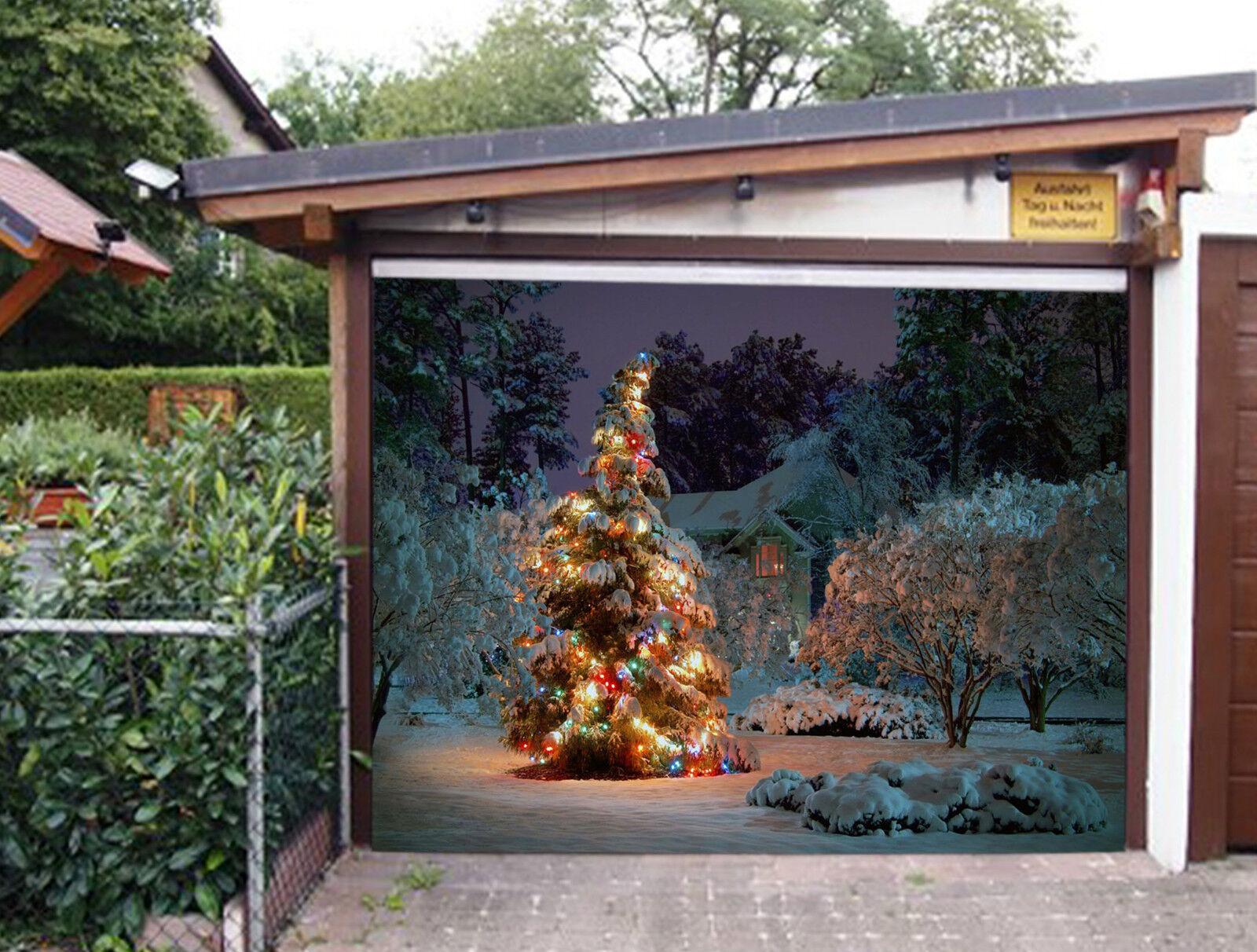 3D Christmas Tree Garage Door Murals Wall Print Decal Wall Deco AJ WALLPAPER IE