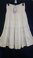 Raviya White Crochet Embroidered Tiered Skirt. Size L. With Tag.