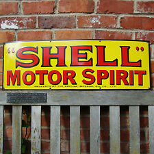 SHELL MOTOR SPIRIT large enamel sign vitreous porcelain garage VAC176