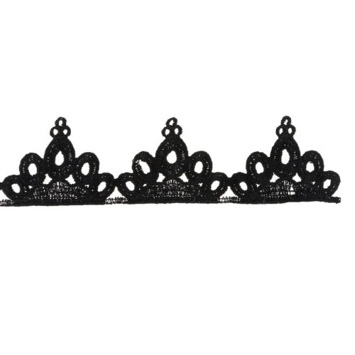 1 Yard Crown Lace Edge Trim Ribbon Embroidered Clothes Applique Sewing Craft