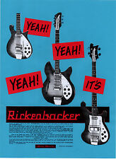 RICKENBACKER GUITAR  POSTER. Byrds, 60's pop.
