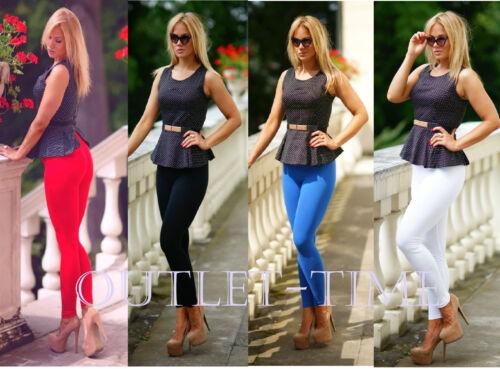 Royal Blue Women/'s Leggings Full Length Hight Quality Cotton Trouser Fitness