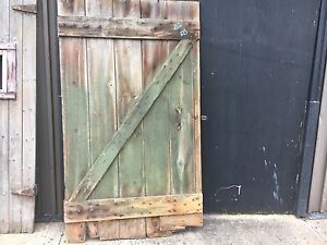 Image Is Loading LARGE 19th Century Salvaged Wooden Barn Door Great