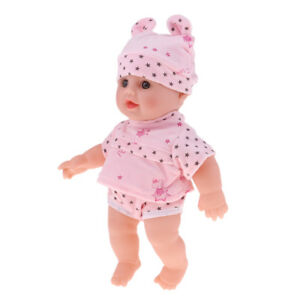 12inch Vinyl Speaking Baby Doll Pregnant Learning Toy In Pink Star Clothes Ebay