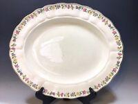 """Vintage Royal Petal Marlborough Grindley England Oval Platter - 14""""L"""