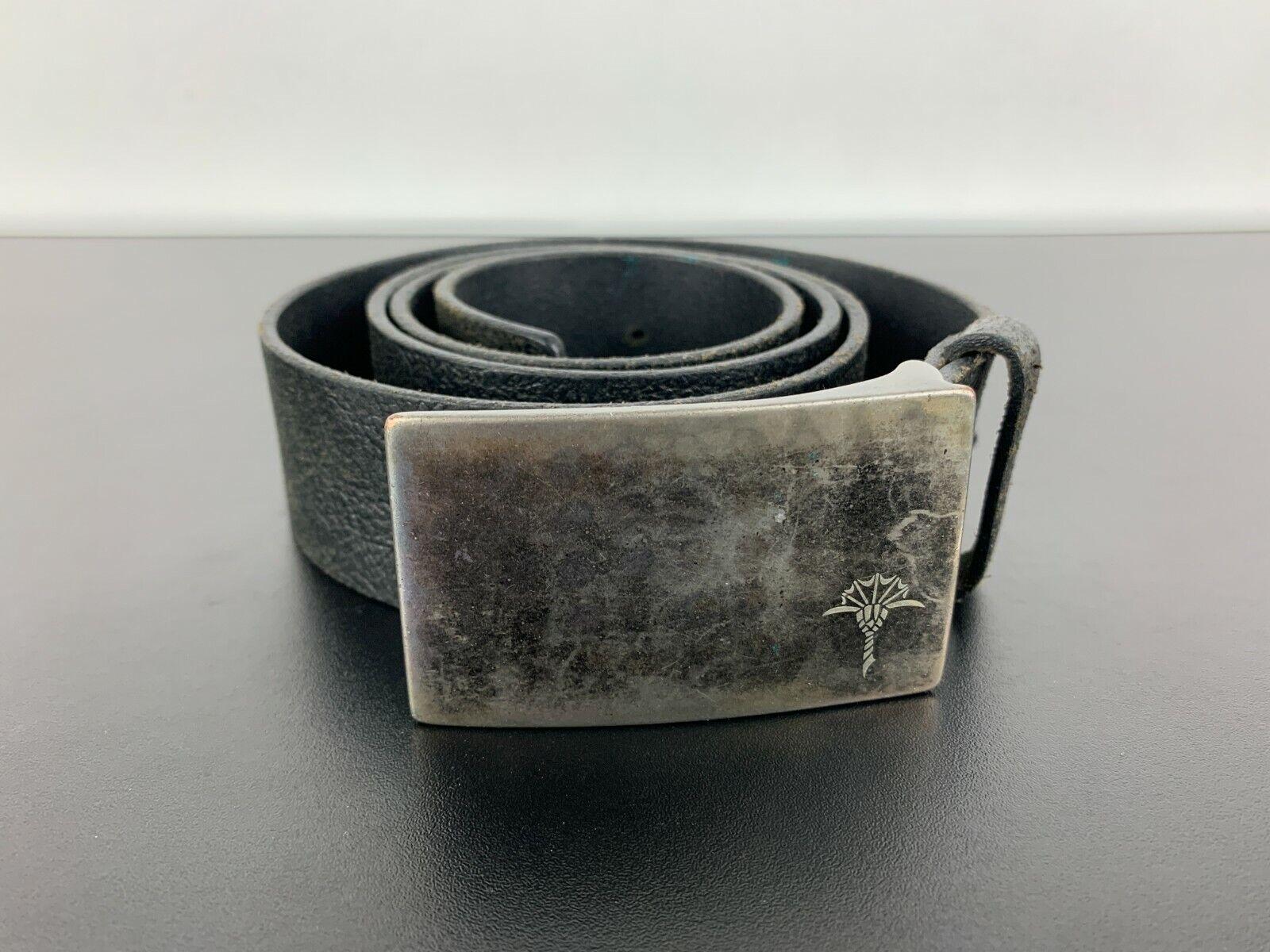 JOOP! JEANS Vintage Schnalle Ledergürtel Genuine Leather Belt Schwarz Black 95