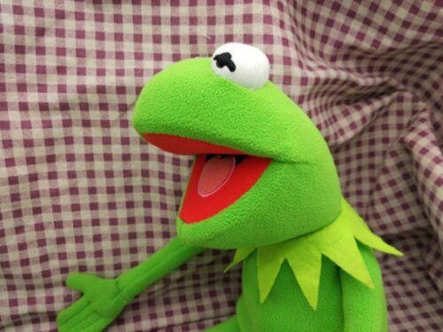 "Kermit Sesame Street Kermit the Frog Toy Soft plush 18/"" Birthday Gifts Doll"