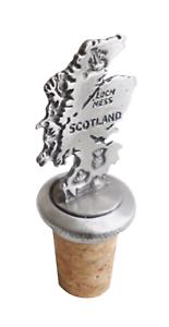 Scotland Map Cork /& Pewter Wine Or Spirit Bottle Stopper