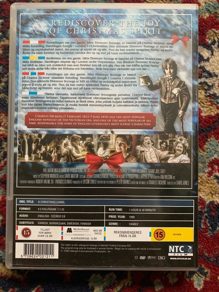 A Christmas Carol , instruktør David Hugh Jones, DVD