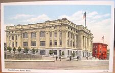 Montana Postcard BUTTE New COURT HOUSE & SILVER BOW CLUB Granite Street Linen