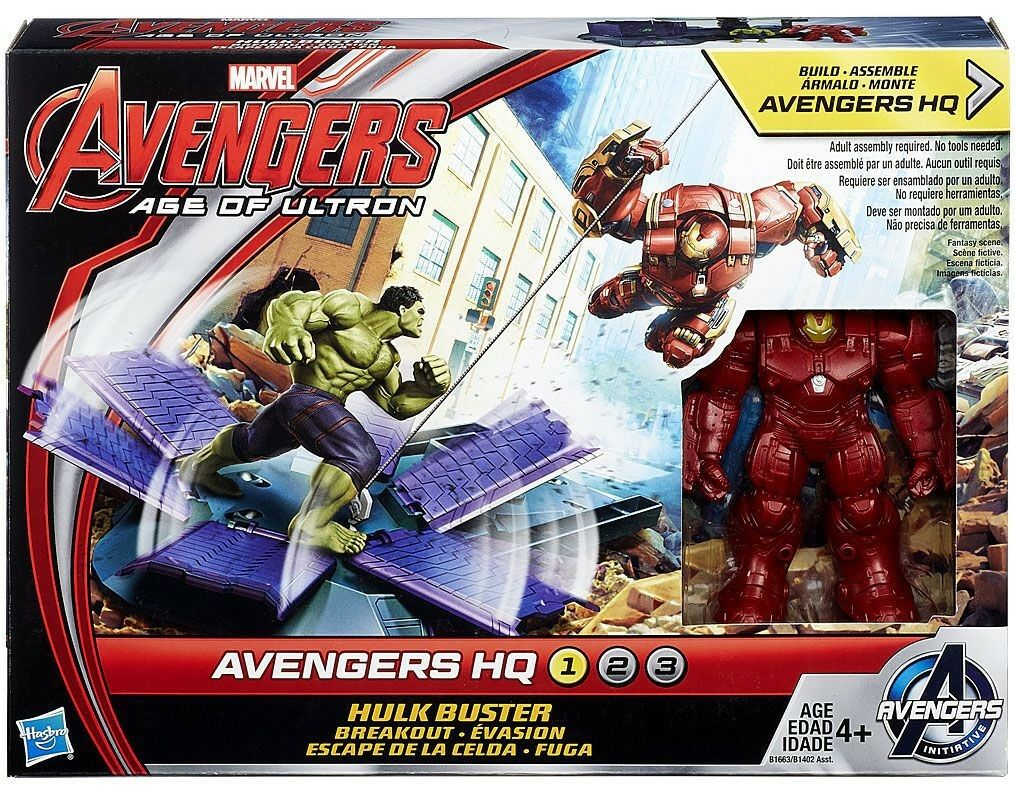 Marvel Avengers Edad de Ultron Hulk Buster Breakout Set Figuras De Acción
