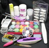 Manicure Acrylic Powder Liquid Rhinestone Brush Glue Nail Art French Tips Tools
