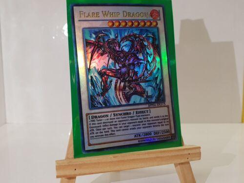 Card Super YuGiOh Orica Flare Whip Dragon Götter Holo Custom Yu-Gi-Oh