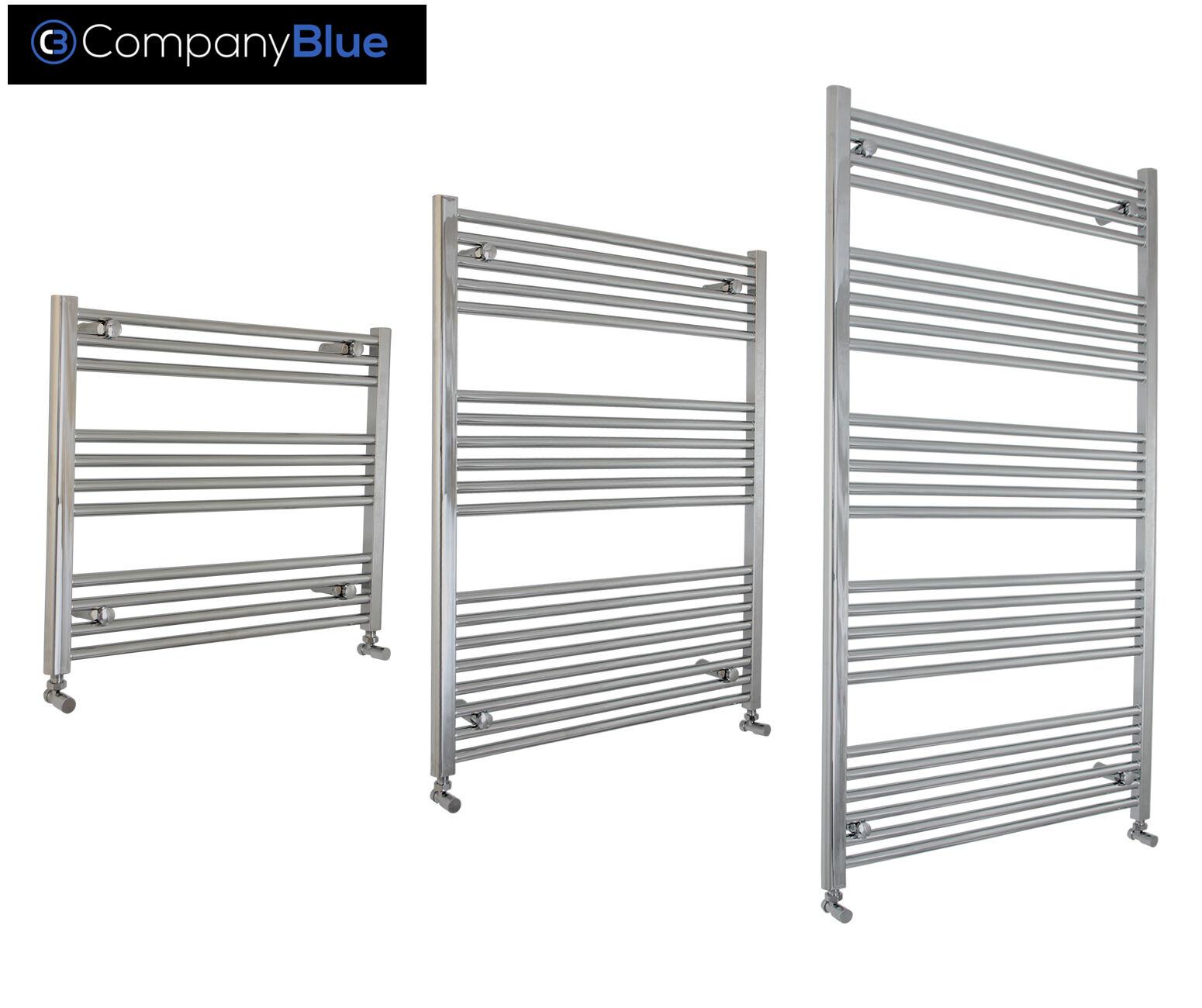 Chrome Towel Rail Rad Central Heating Bathroom Radiator 900mm Wide x 900 mm (w)