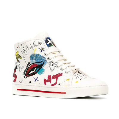 MARC JACOBS WOMEN SHOES TAYLOR PAVE OFF WHITE COLLAGE HI-TOP SNEAKERS #M9000809