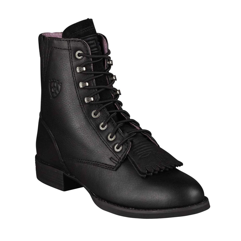 Ariat Ladies Heritage Lacer II Black Deertan Boot 10002145