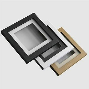 3D-Box-Picture-Photo-Poster-frame-1-inch-Deep-Frames-3-colours-Multi-Sizes