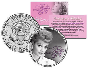 Lucille-Ball-034-I-Love-Lucy-Portrait-034-JFK-Kennedy-Half-Dollar-US-Coin-Licensed