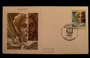 MONACO-PREMIER-JOUR-FDC-YVERT-1776-L-ART-CONTEMPORAIN-4F-1989