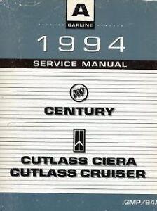 1994 buick century oldsmobile cutlass ciera cruiser service shop rh ebay com 1992 Buick LeSabre 1992 Buick LeSabre