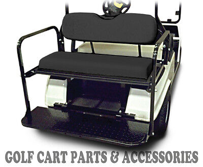 EZGO TXT Flip Seat Kit (1994 -2013)  *BLACK SEAT CUSHIONS* Rear Back Seat
