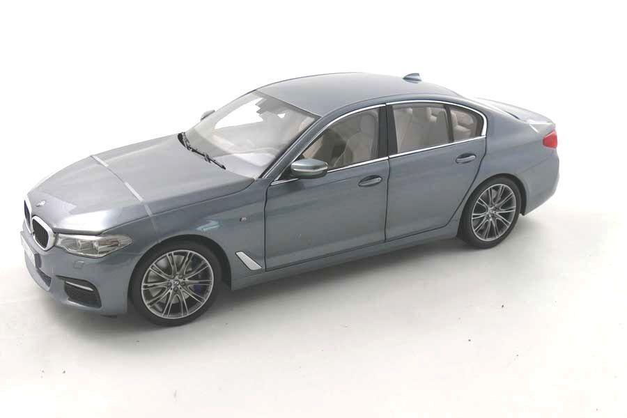 BMW G30 serie 5 modelo de escala Diecast 1 18 blu Piedra grigio 80432413788