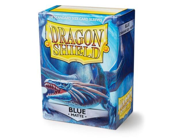 Dragon Shield 100 Standard Deck Protector Sleeves Matte Blue AT-11003 MTG TCG