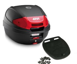 Givi-Monolock-Topcase-E300N2-30-Liter-schwarz-inkl-Montagekit-Motorrad-Roller