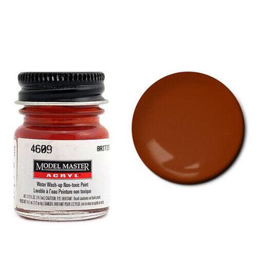 Model Master 4609 British Crimson Flat Acrylic Paint 14.7ml Jar Testors