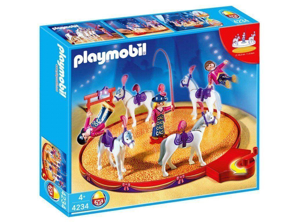 Playmobil 4234 Pferdedressur mit Drehmanege ungeöffneter OVP NEU RARITÄT