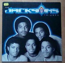 The JACKSONS (Michael Jackson)  Vinyl  LP  Triumph, (incl Can You Feel It) EX+