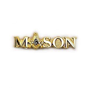 ebc810da741 Image is loading MASON-MASONIC-SCRIPT-GOLD-LAPEL-PIN