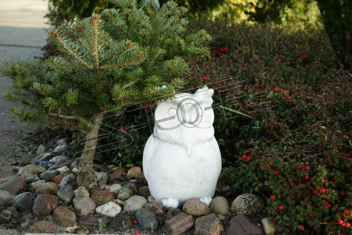Garten Dekoration Eule Terrasse Stein Figuren Figur Deko Statue Skulptur S103110