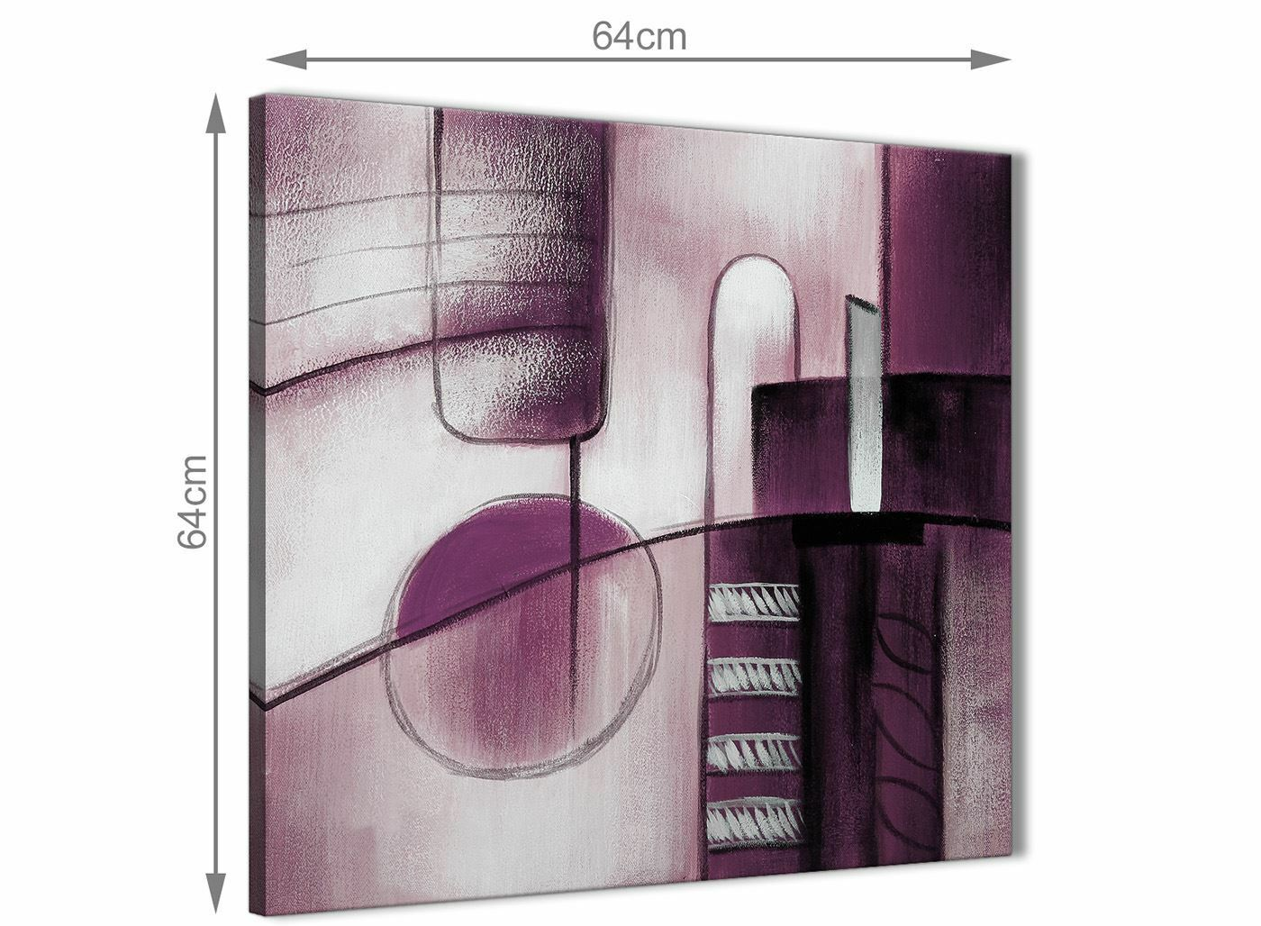 Plum grau Painting Hallway Canvas Pictures Decor Decor Decor - Abstract 1s420m - 64cm f130d1