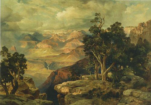 GRAND CANYON AMERICAN LANDSCAPE PAINTING BY THOMAS MORAN REPRO