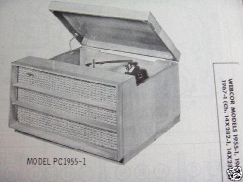 WEBCOR BC-1955-1,-1962-1,MC-1967-1 PHONOGRAPH PHOTOFACT