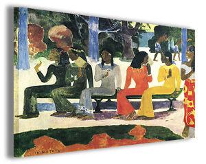 Dettagli su Quadri famosi Paul Gauguin vol XXVII Stampa su tela arredo  moderno arte design