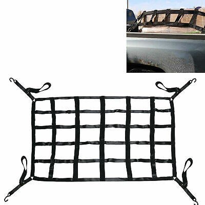 """42/"""" x 50/"""" Truck Long Bed Cargo Nets with Cam Buckles and S Hooks"""