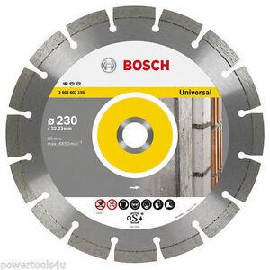 Le Meilleur Bosch Diamant Coupe Disque Professionnel Pour Universal 230 X 22.23 Mm 2608602195-afficher Le Titre D'origine Et D'Avoir Une Longue Vie.
