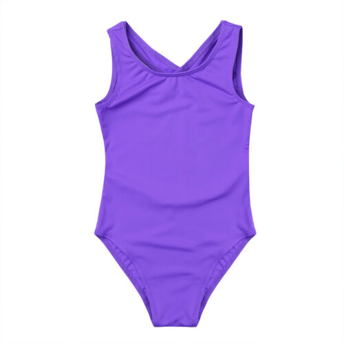 Girls Kids Sleeveless Ballet Leotard Gymnastics Jumpsuit Dancewear Costumes