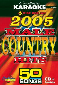 Sur De Soi 2005 Male Country Hits Chartbuster Cbg5052, 50 Karaoke Chansons Sur 3 Cdg's-afficher Le Titre D'origine Toujours Acheter Bien