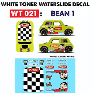 Wt021 White Toner Waterslide Decals Bean 1 For Custom 1 64 Hot Wheels Ebay
