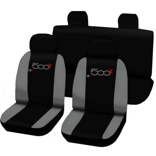 Sitzbezüge von fiat 500x Schonbezüge AUTO Abdeckung Plätze zweifarbig hellgrau