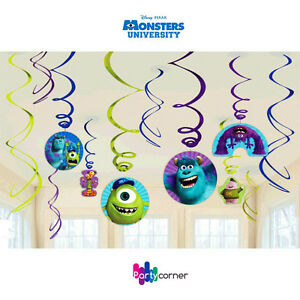MONSTERS-UNIVERSITY-PARTY-SUPPLIES-SWIRL-HANGING-PARTY-DECORATIONS-12-PIECES
