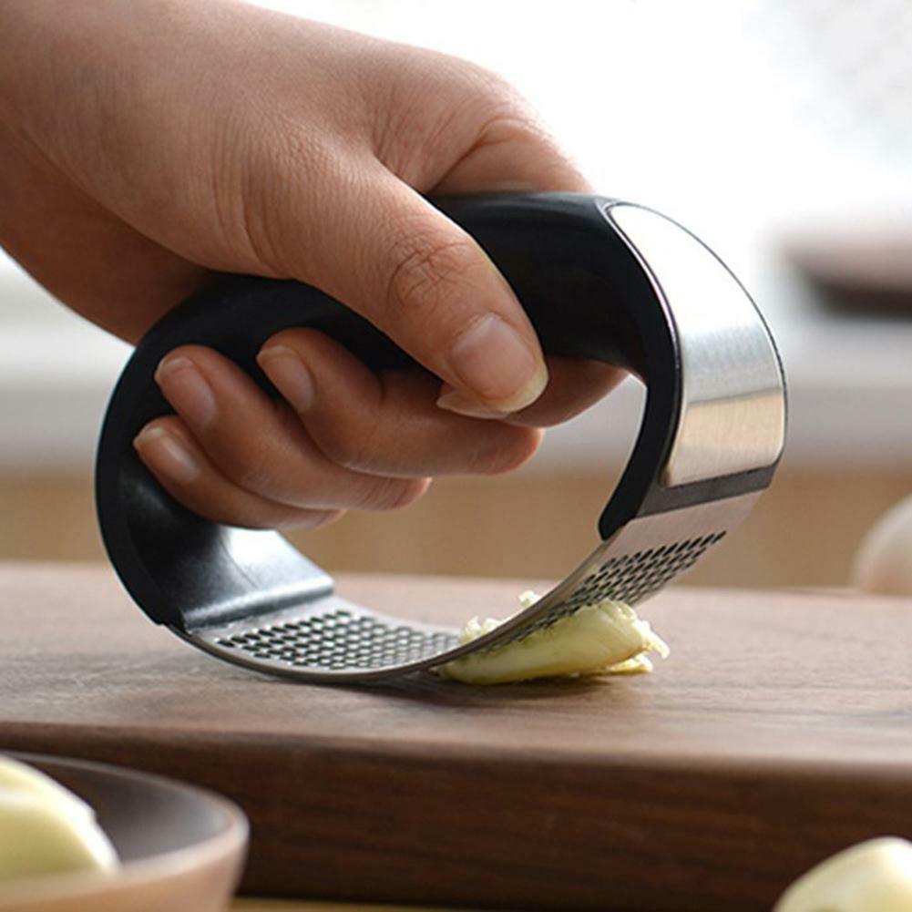 Stainless Steel Manual Garlic Press Crusher Squeezer Masher Mincer Kitchen Tools