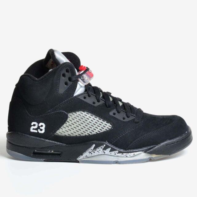a32995b6de92 Air Jordan 5 Retro Black Silver Size 10 Varsity Red 2011 OG V Men s 136027-